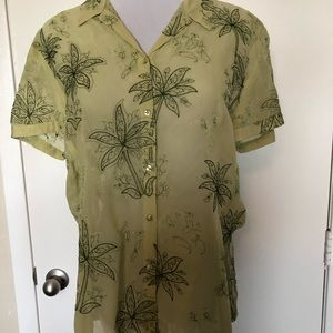 Tommy Bahama Lime Green Blouse